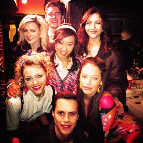 The Carrie diaries. Cast....but they left out Austin butler, the prettiest part of the picture.