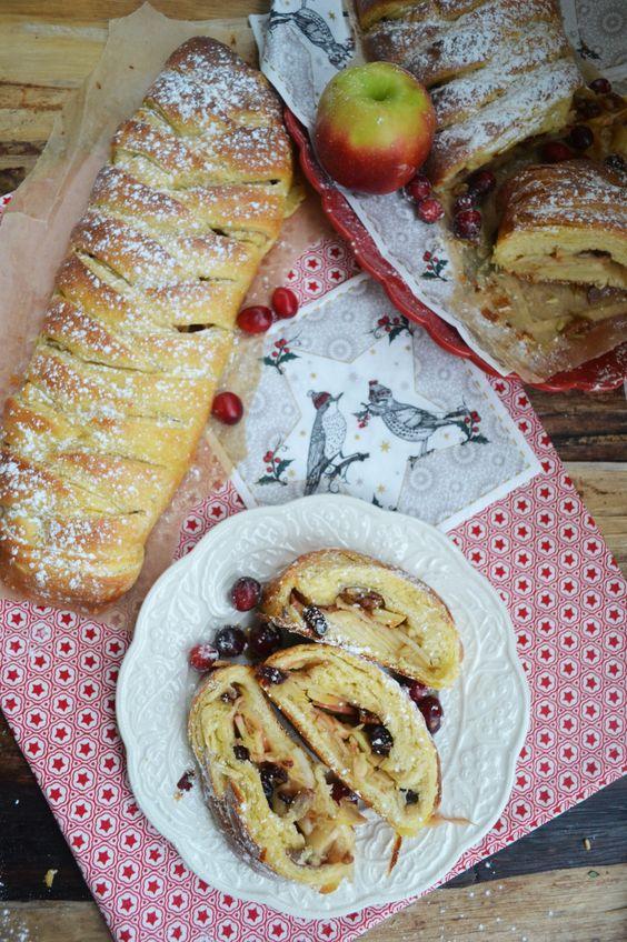 Oh wunderbare Weihnachtszeit! Dänischer Apfelzopf mit Kardamom