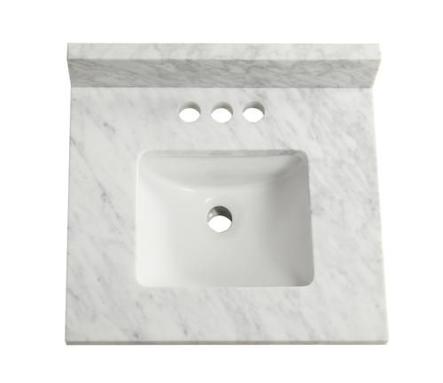 Tuscany 19 X 17 Carrara Marble Vanity Top Marble Vanity Marble Vanity Tops Vanity Top