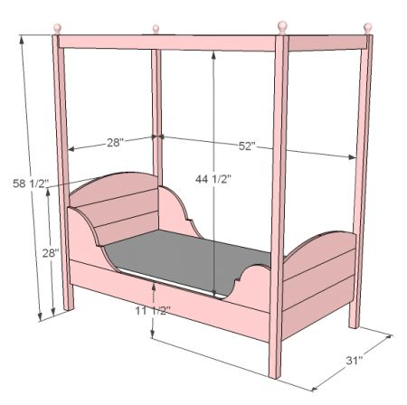 Toddler beds for girls princesses - Spaceships Ana White And Bed With Canopy On Pinterest