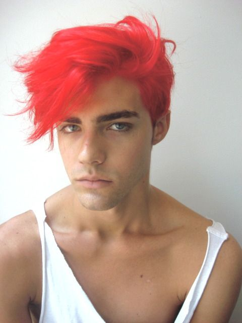 boy with dyed red hair -#main