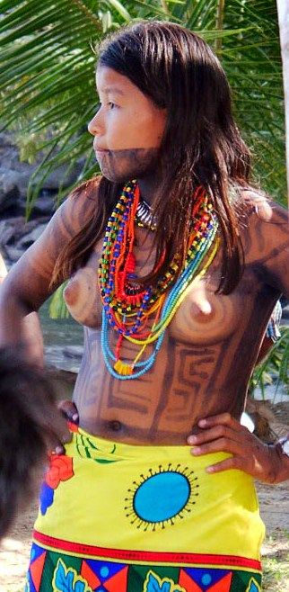 Panama indian tribes girl think, that