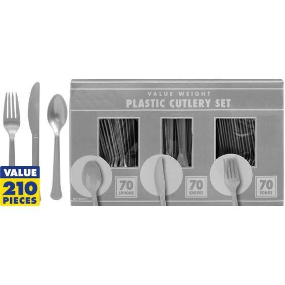 Silver Cutlery Set 210pc