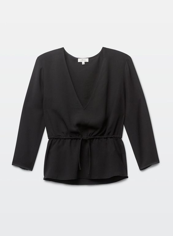 Wilfred BARRÈME BLOUSE | Aritzia in black or white