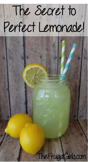 The Secret to Perfect Lemonade! ~ from TheFrugalGirls.com ...