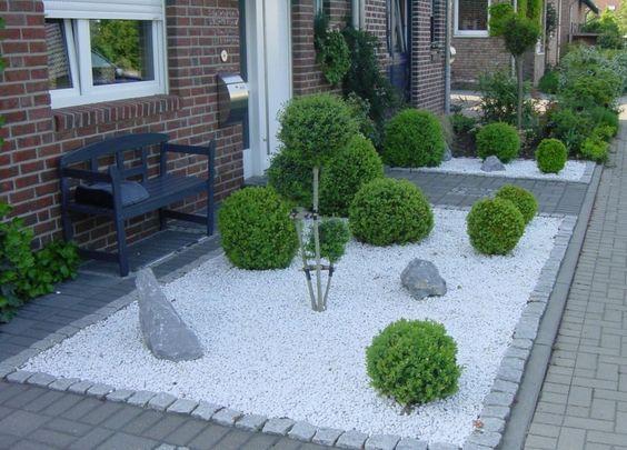 Vorgarten kies garten und terrasse pinterest for Kies vorgarten