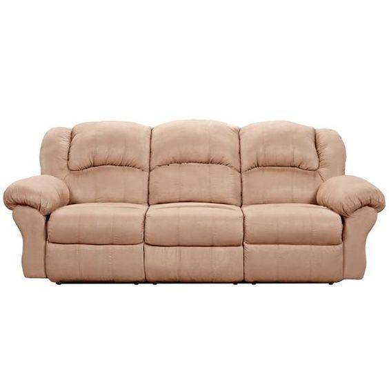 Sofa Covers Sensations Camel Microfiber Polyester Wood Reclining Sofa
