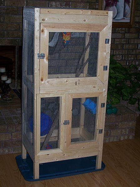 DIY double decker sugar glider cage...to do list!