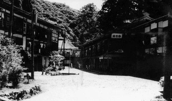 昭和39年頃、新潟県・栃尾又温泉。