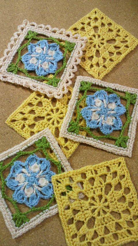 かぎ針編み コサージュ付き小物DN2 の画像|野の花手芸噺