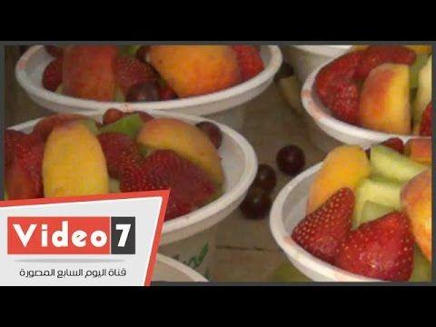 بالفيديو رضعة الأسد والقرد والحب أحدث كوكتيل عصائر بوسط البلد Fruit Food Peach