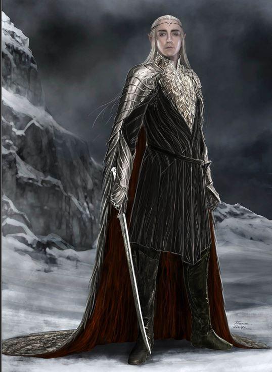 Thranduil. Concept art. The Hobbit: The Battle of the Five