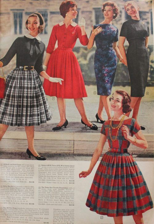 1950s vintage fall fashion from 1959