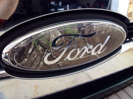 Ford CAMO emblem. Custom wrapped emblem #camo #ford Call us 855-2-BUYRIM to order yours!