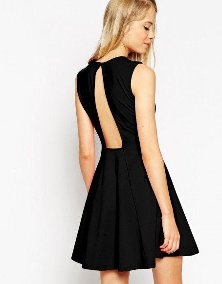 Asos robe noire dos nu