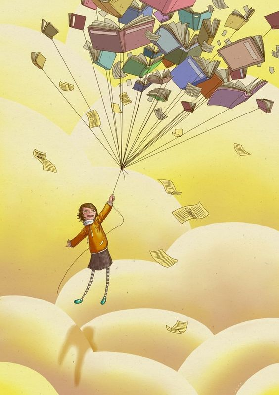 carried away by books...
