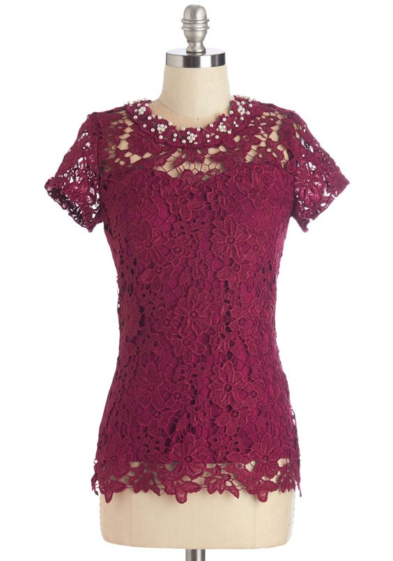 Graceful Air Top in Magenta. You exude the most feminine flair when you wear this magenta top! #pink #modcloth