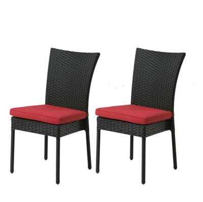 Garden Treasures Rialto Wicker Patio Dining Chair (Set of 2)