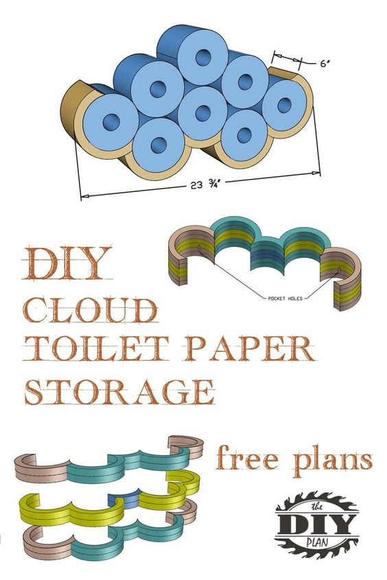 Awesome Diy Cloud Toilet Paper Storage In 2020 Diy Clouds Paper Storage