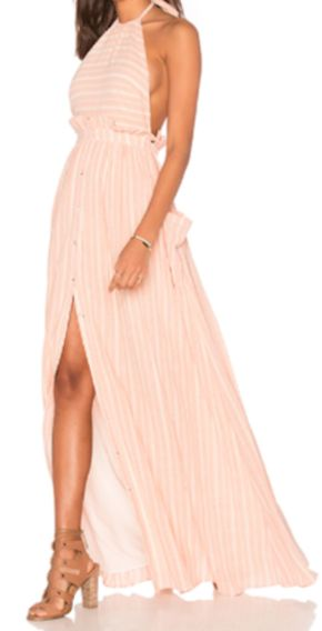 flowing pocketed halter dress