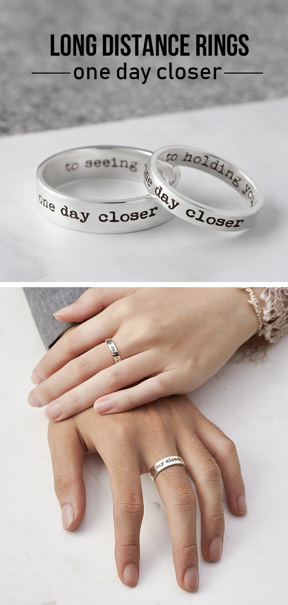 Long Distance Rings One Day Closer Couple Gifts Boyfriend