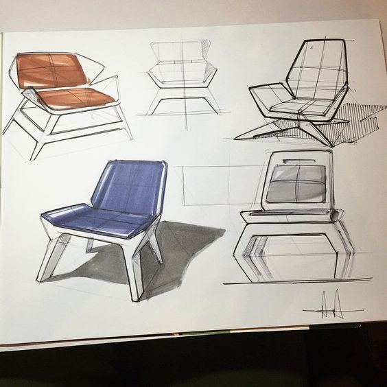 Quick 15 minute page.. I don't think I've really ever sketched furniture. Trying to find a style