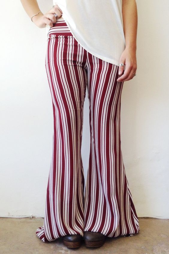 FLYNN SKYE PATTY FLARE IN BURGUNDY STRIPE