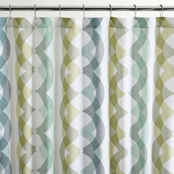 Shower Curtains crate and barrel shower curtains : Marissa Shower Curtain | Crate and Barrel Upward movement in ...