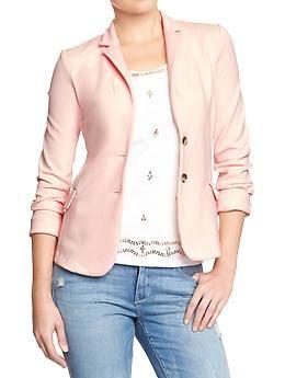 Womens Ponte-Knit Blazers - Blush Pink | My Style | Pinterest ...