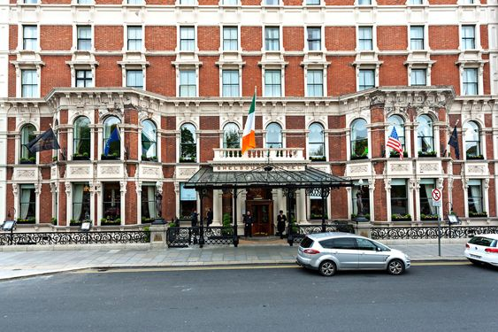 8 of the World's Most Iconic Hotels   Shelbourne Hotel, Dublin An Irish institution, the famed hotel was established in 1824 by Martin Burke. Throughout its nearly 200-year history, it has been the venue for historic events, such as the signing of the Irish Constitution in 1922, and has hosted a slew of cultural icons, including Elizabeth Taylor, Bill Clinton, Julia Roberts, and Woody Allen. From $217/night; marriott.com