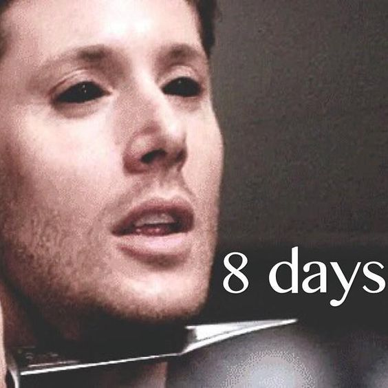 """So excited! """"@NinoPossy: Only 8 DAYS left until #Supernatural season 10, Can't wait   pic.twitter.com/agRALt7NeN"""""""