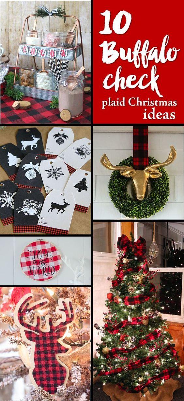 10 Buffalo Check Plaid Christmas Ideas
