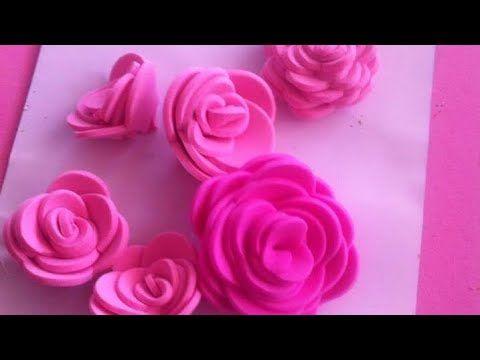 Como Hacer Rosas De Fomi Sin Molde Paso A Paso Rosas De