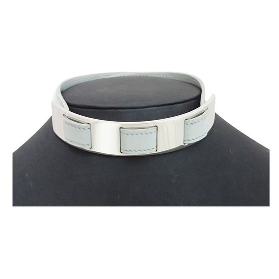 Hermes Metal Leather Necklace