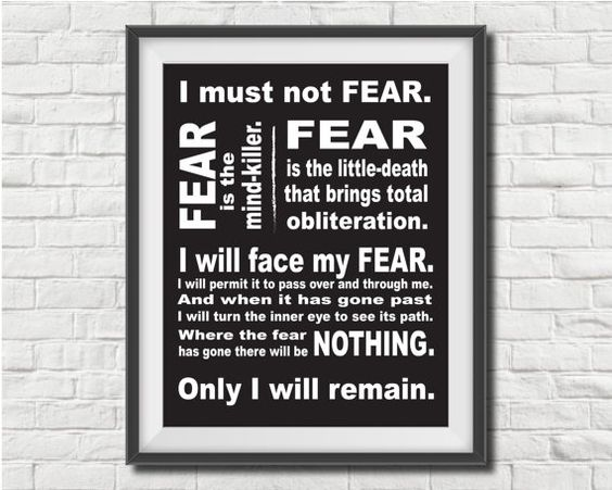 Fear is the Mind-Killer  Typographic Print by thePluckiestPrints