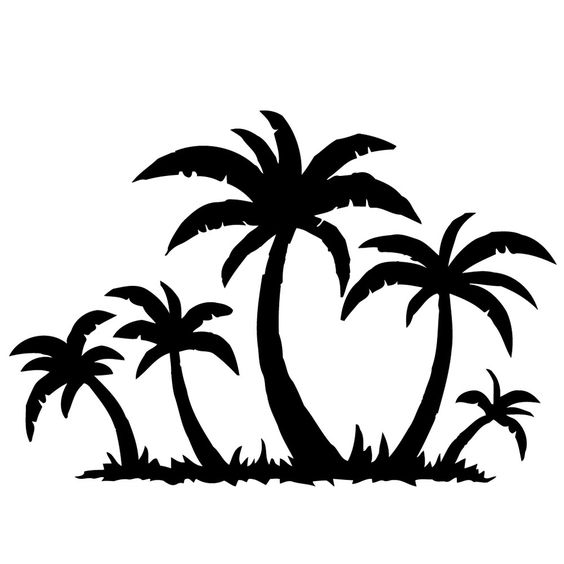 Palm Trees on the Beach Vinyl Wall Decal - Overstock Shopping - The Best Prices on Vinyl Wall Art