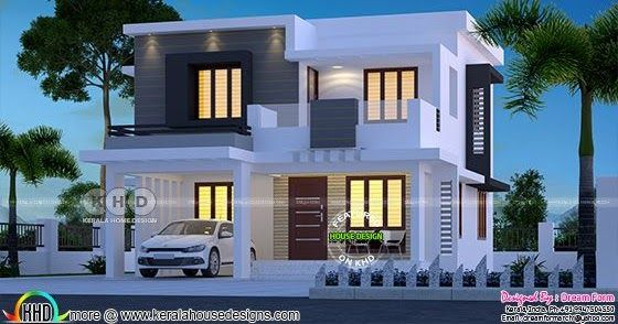 Flat Model Contemporary Home 1680 Square Feet One Storey House