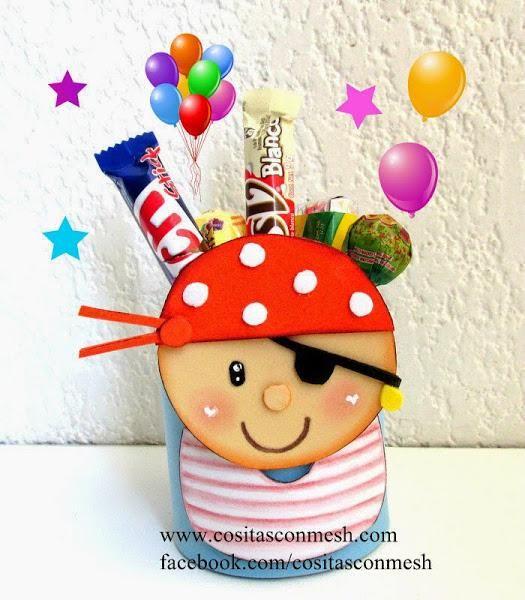 Dulcero de pirata para una fiesta de cumpleaños DIY   Fiestas