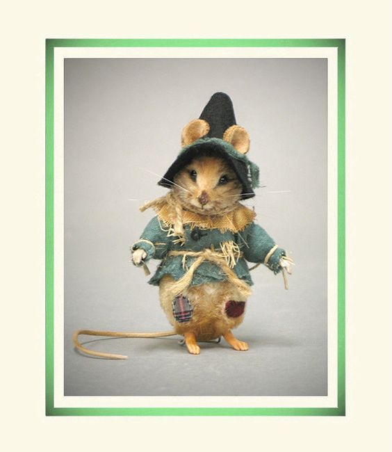 R John Wright Collectible Dolls - Wizard of Oz Scarecrow MOUSE! #RJohnWright