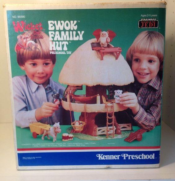 Vintage KENNER EWOK Playhut Playset COMPLETE Sealed Parts MINT Treetots