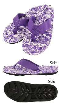 Purple Paw Ridged Flip Flops at The Animal Rescue Site