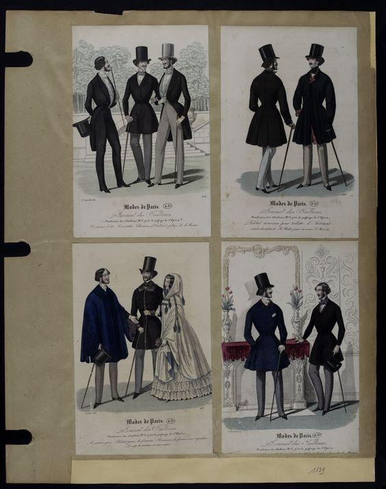 Mode. [XIXe siècle]. 1839 Paletot, manteau grec