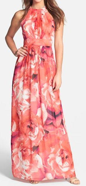 pretty floral print maxi dress