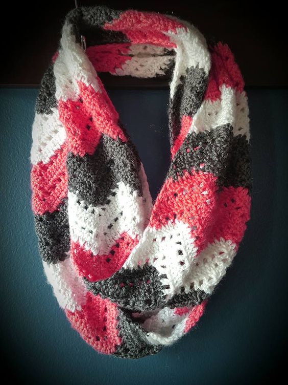 Chevron Lace Infinity Scarf  from FB