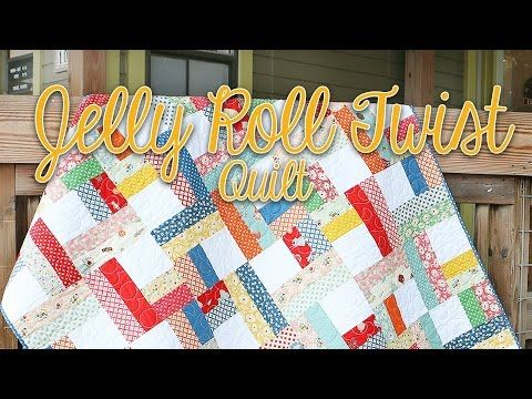 Shortcut Quilt: Jelly Roll Twist | Fat Quarter Shop's Jolly Jabber ... : youtube quilting jelly rolls - Adamdwight.com
