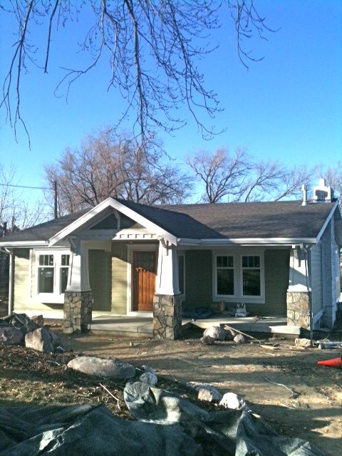 Craftsman Details Update Ranch To Look Like Bungalow Curb Appeal Pinterest Craftsman