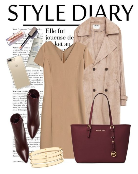 """""""Без названия #3162"""" by simplychic11 ❤ liked on Polyvore featuring Zara, Therapy, Agnona, Speck, Michael Kors and Jeweliq"""