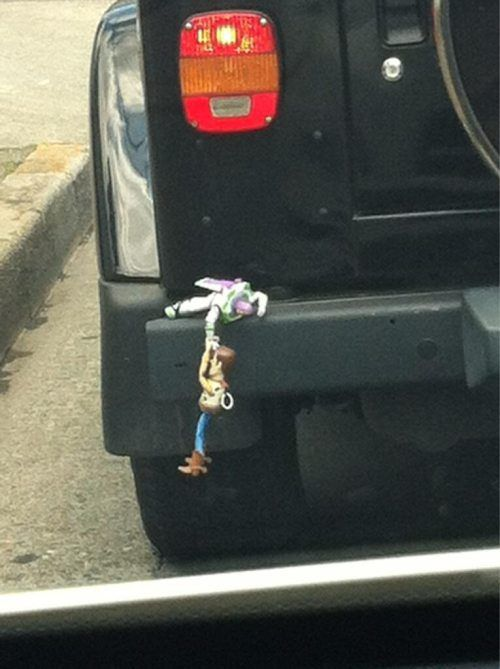 Buzz Lightyear and Woody Bumper Ornament. This is awesome.