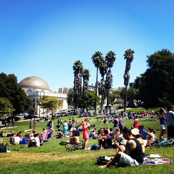 Mission Dolores Park - Hipster heaven. Crowded every weekend with day drinkers and certainly makes for interesting people-watching.