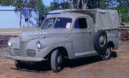 1941 Ford Australia ww2 ute. | Utes & bakkies, they built them out of what? Some Factory ,some
